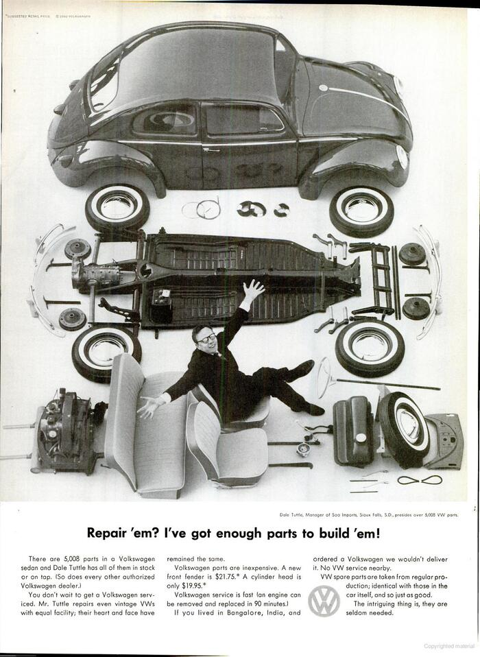Volkswagen of America ads, 1960–66 7