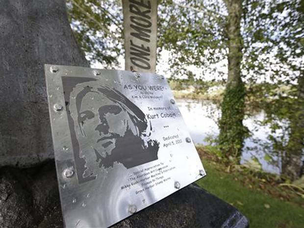 Kurt Cobain Landing memorial plaque 1
