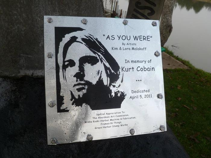 Kurt Cobain Landing memorial plaque 2