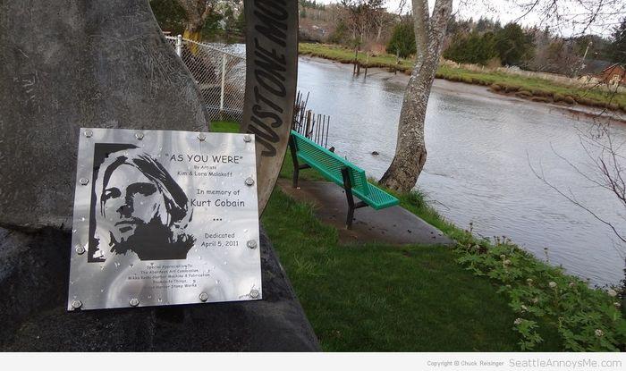 Kurt Cobain Landing memorial plaque 4