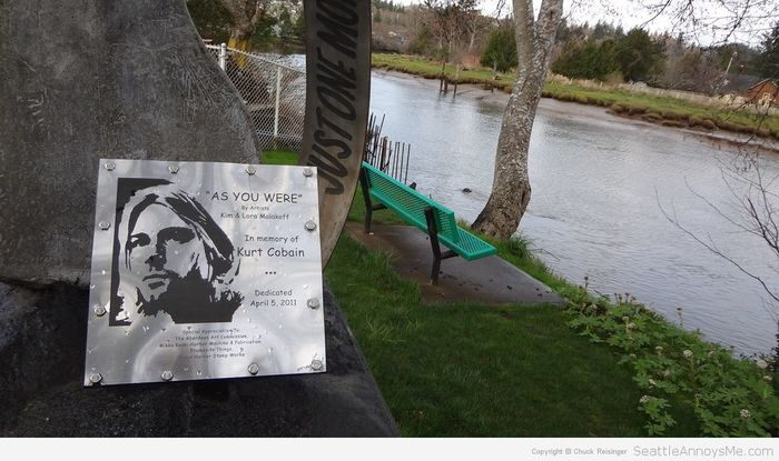 Kurt Cobain Landing memorial plaque 4