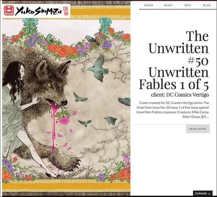 Yuko Shimizu website 3