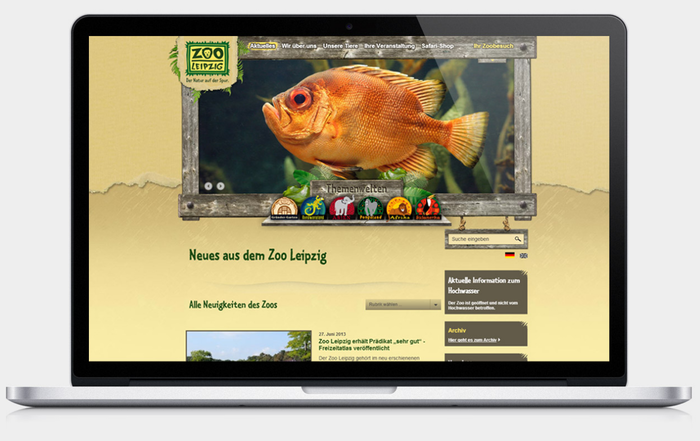 Zoo Leipzig website 2