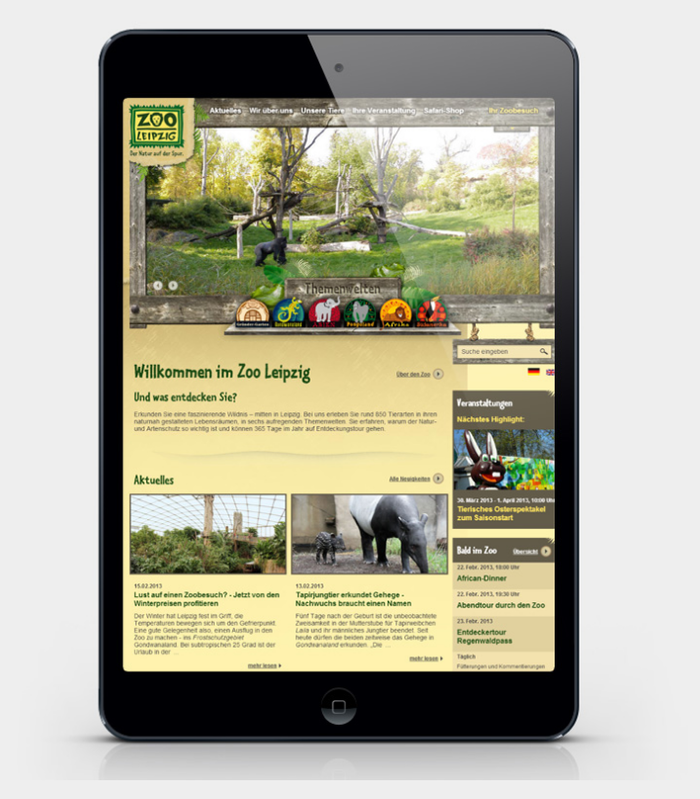 Zoo Leipzig website 1