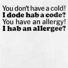 "Allerest ad: ""You don't have a cold!"""