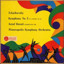 Antal Dorati, Minneapolis Symphony – <cite>Tchaikovsky Symphony No. 5</cite> album art