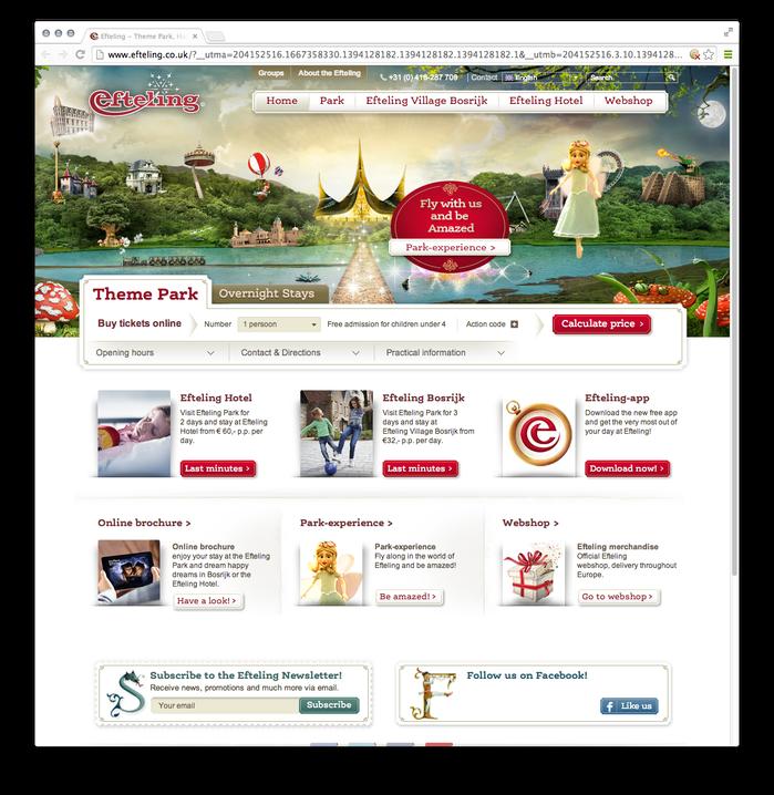 Efteling website 1