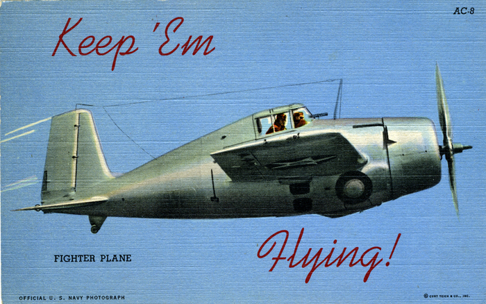 """Keep 'Em Flying"" US Air Corps postcards 1"