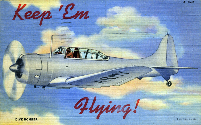 """Keep 'Em Flying"" US Air Corps postcards 3"