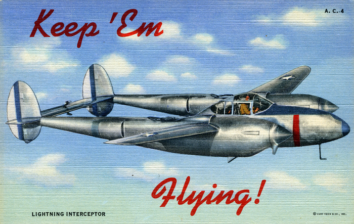 """Keep 'Em Flying"" US Air Corps postcards 4"