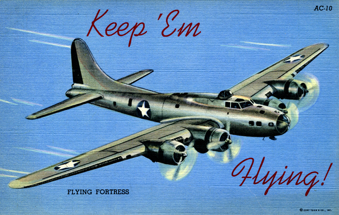 """Keep 'Em Flying"" US Air Corps postcards 5"