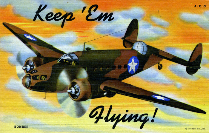"""Keep 'Em Flying"" US Air Corps postcards 6"