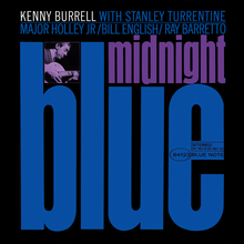 Kenny Burrell – <cite>Midnight Blue</cite> album art