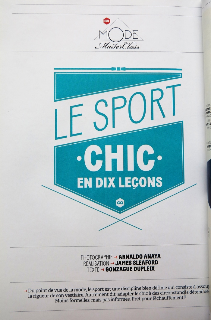 """Le sport chic en dix leçons"" in GQ France, April 2013 2"
