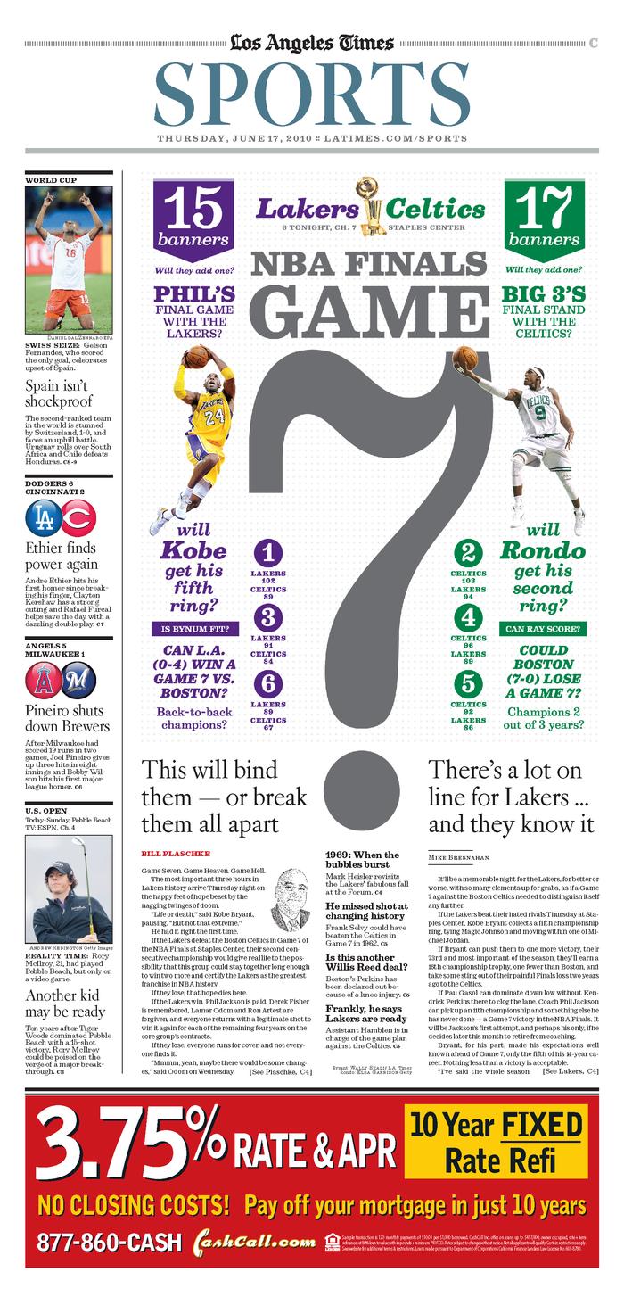 Los Angeles Times Sports: 2010 NBA Finals 3