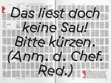 """<cite>Der Zirkel, der macht</cite>, Issue #1 """"Timeless Fitness"""""""