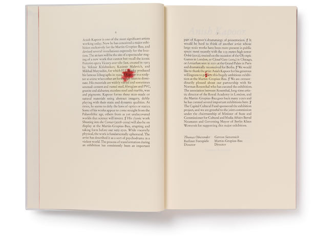 Anish Kapoor: Symphony for a Beloved Sun catalogue 3