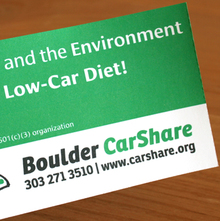 Boulder CarShare promotion