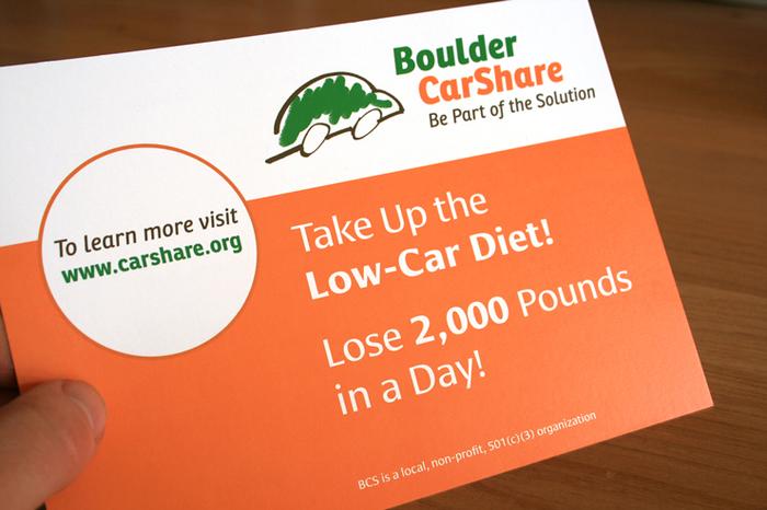 Boulder CarShare promotion 2