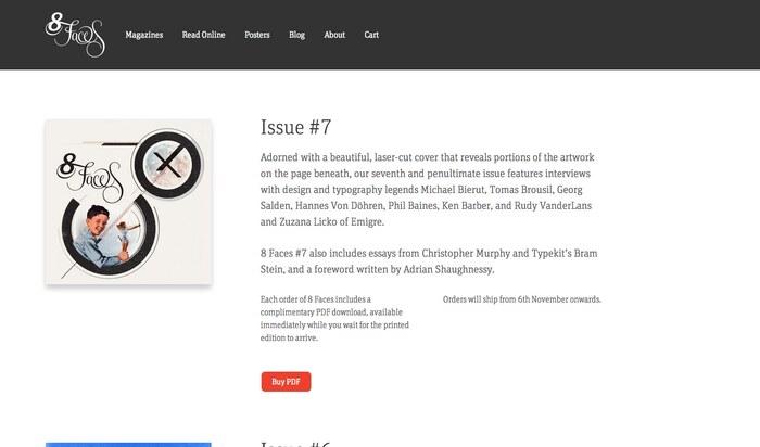 8 Faces website 2