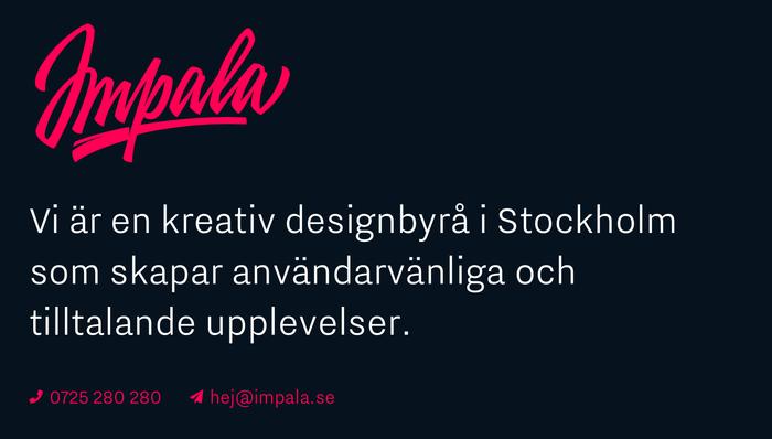 Impala Designbyrå website 2