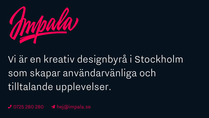 Impala Designbyrå website 2
