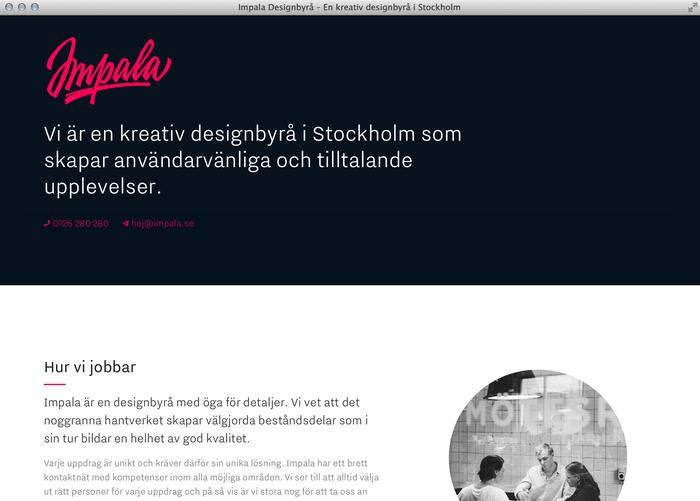Impala Designbyrå website 4