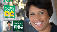 Muriel Bowser Campaign Website