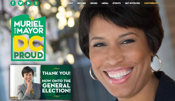 Muriel Bowser Campaign Website