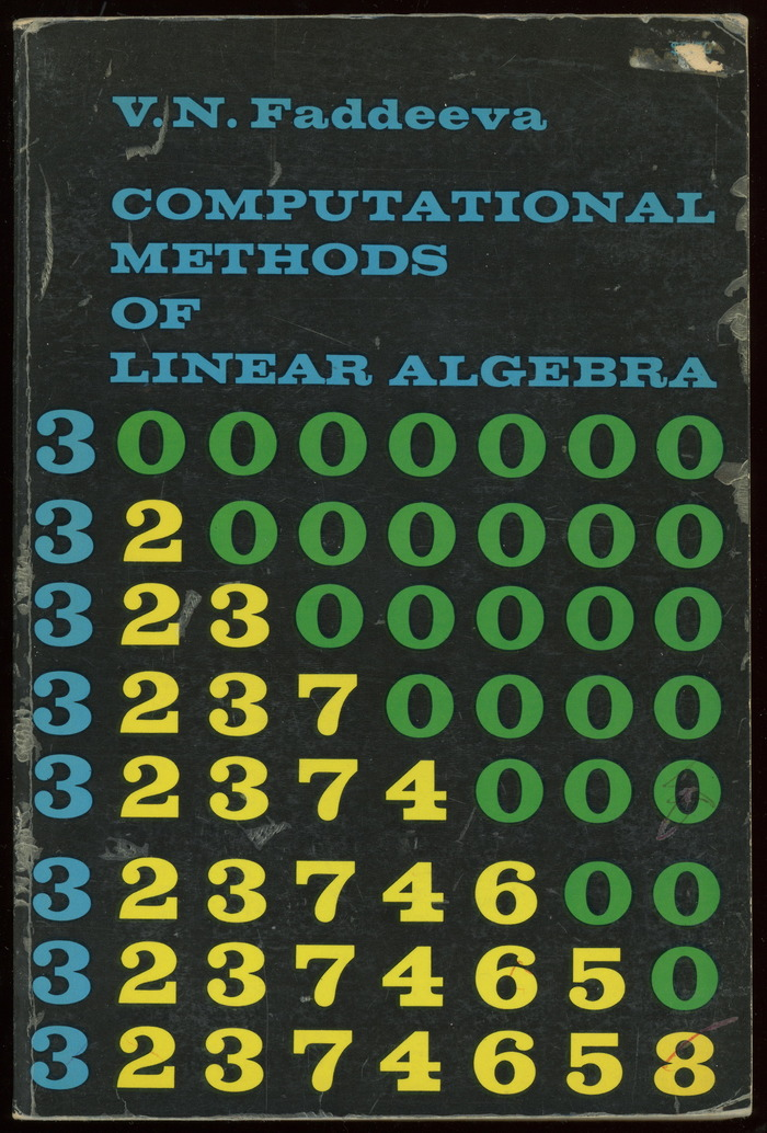 Computational Methods of Linear Algebra