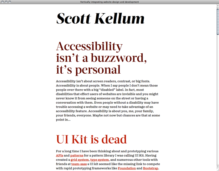 Scott Kellum's website 1