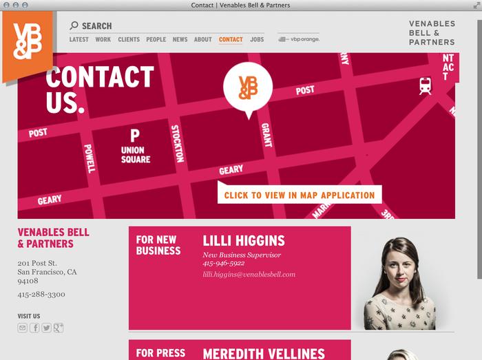 Venables Bell & Partners website 5