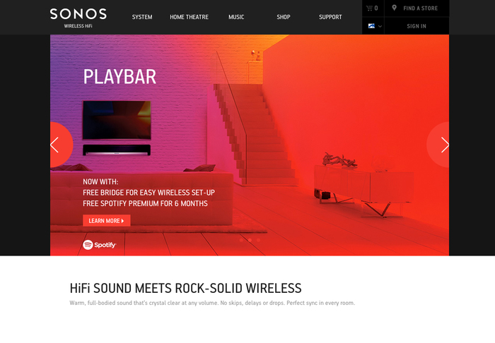 Sonos website 1