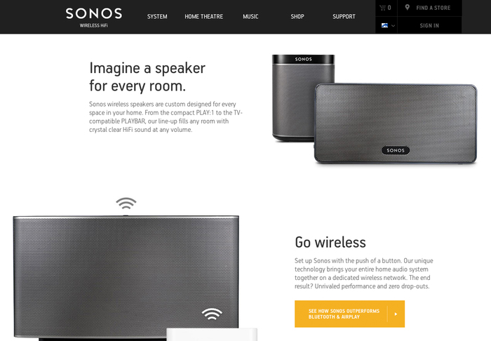 Sonos website 3