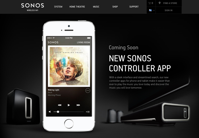 Sonos website 4