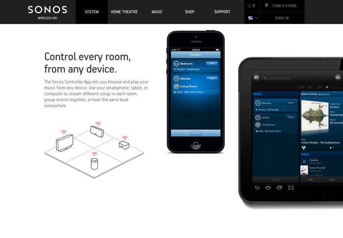 Sonos website 5