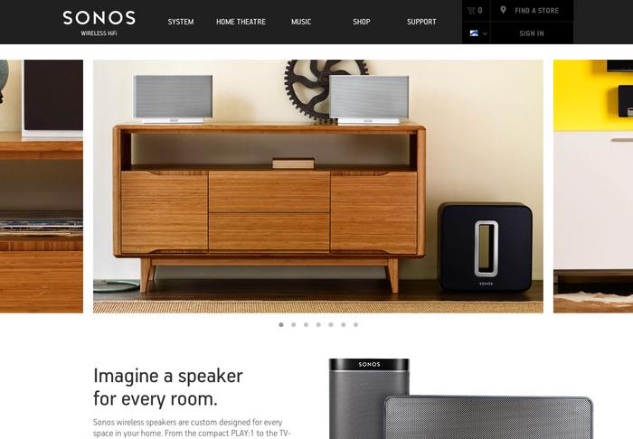 Sonos website 6