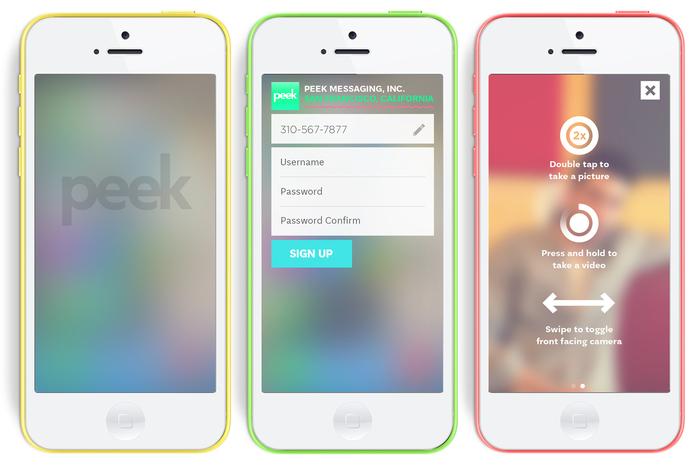Peek Messaging app 1