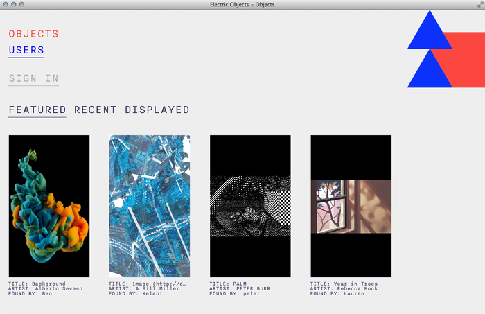 Electric Objects website 1