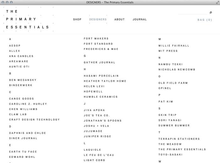 The Primary Essentials Store & Website 2