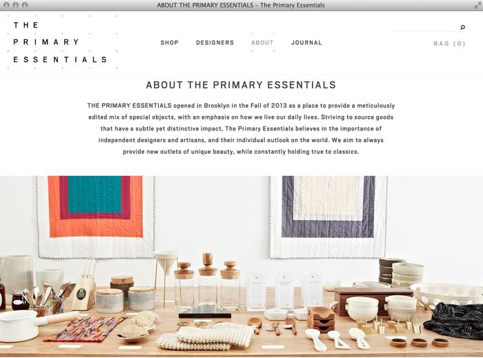 The Primary Essentials Store & Website 3