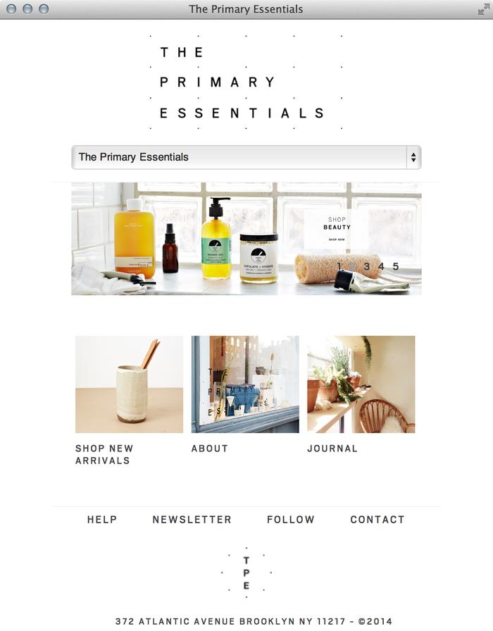 The Primary Essentials Store & Website 5