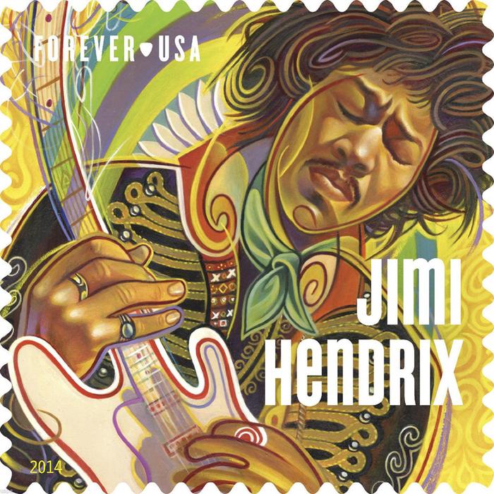 Jimi Hendrix Forever® US postage stamp 1