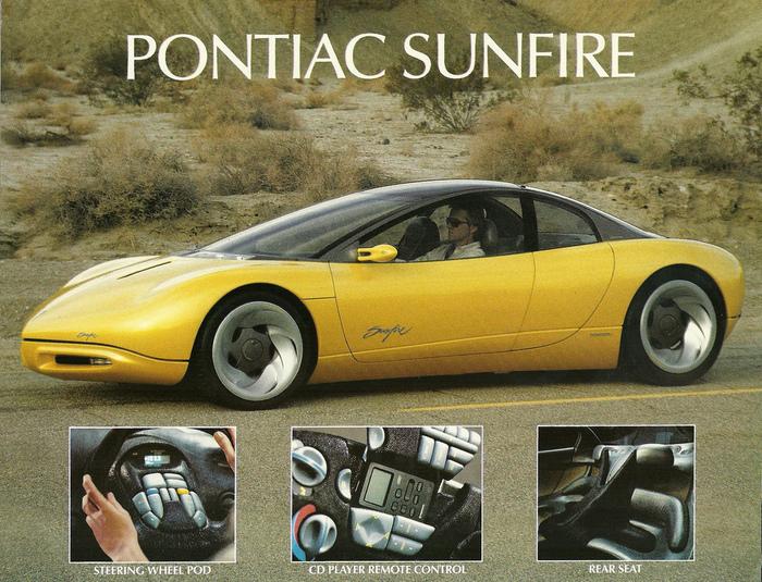 Pontiac Sunfire Concept Car press kit