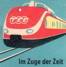 Deutsche Bundesbahn matchbox labels, c. 1957