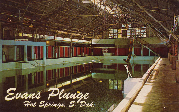 Evans Plunge, Hot Springs, South Dakota postcard