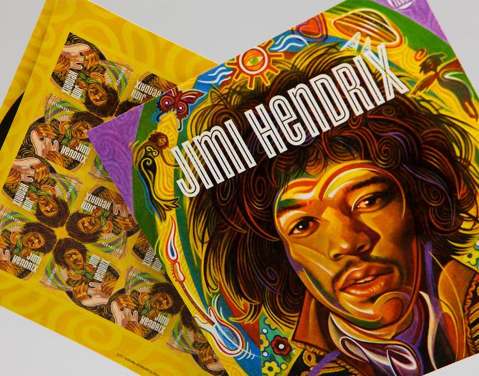 Jimi Hendrix Forever® US postage stamp 3