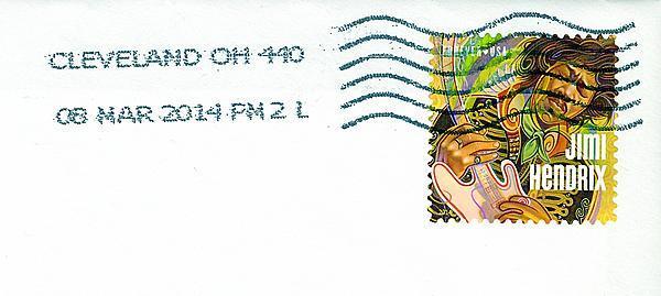 Jimi Hendrix Forever® US postage stamp 4