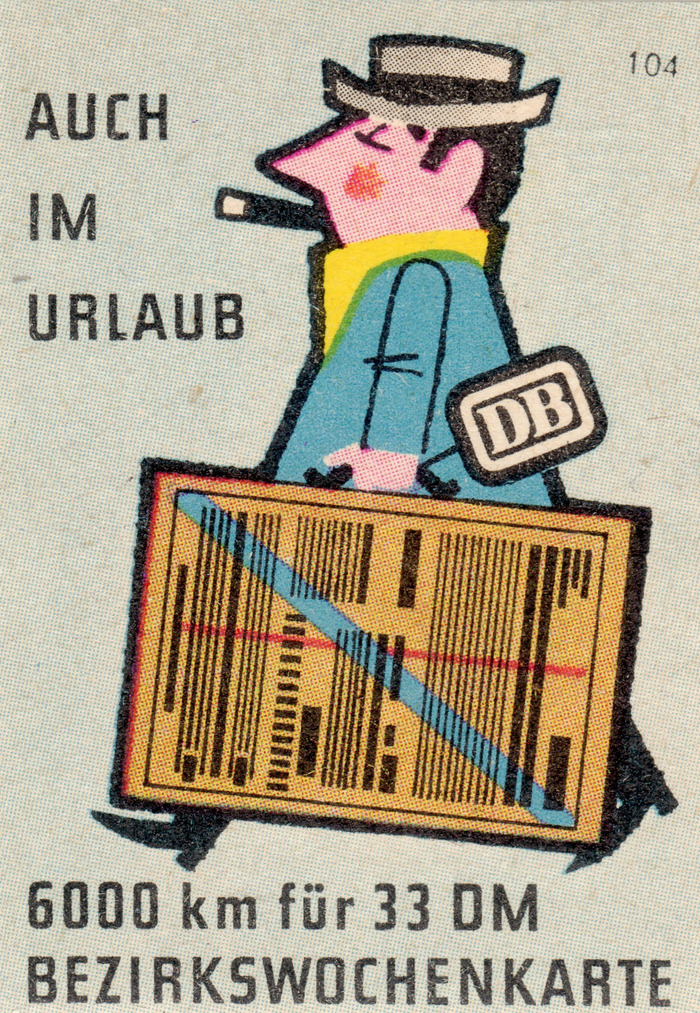 Deutsche Bundesbahn matchbox labels, c. 1957 2