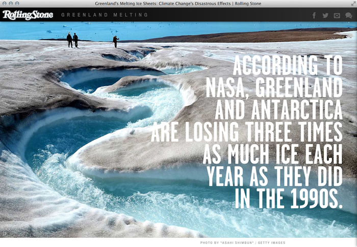 """""""Greenland Melting"""", Rolling Stone feature website 3"""